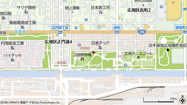 〒671-1124 兵庫県姫路市広畑区鶴町の地図