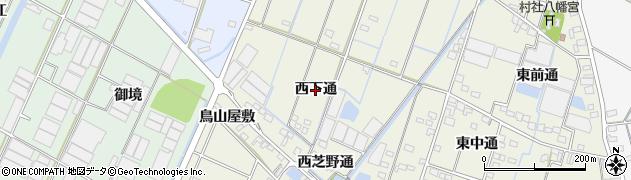愛知県西尾市一色町酒手島(西下通)周辺の地図
