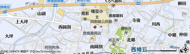 愛知県西尾市西幡豆町(北岡割)周辺の地図