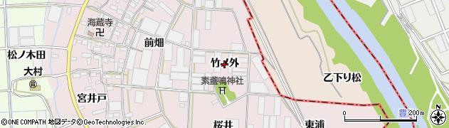 愛知県豊橋市長瀬町(竹ノ外)周辺の地図