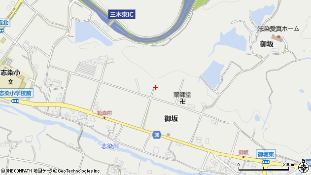 〒673-0516 兵庫県三木市志染町御坂の地図