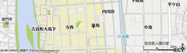 愛知県西尾市吉良町大島(東島)周辺の地図