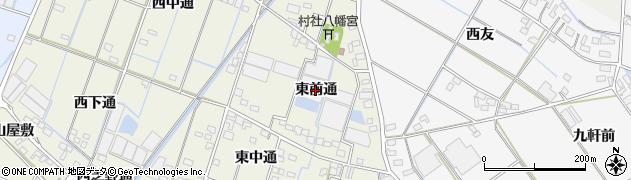 愛知県西尾市一色町酒手島(東前通)周辺の地図