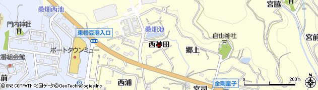 愛知県西尾市東幡豆町(西神田)周辺の地図