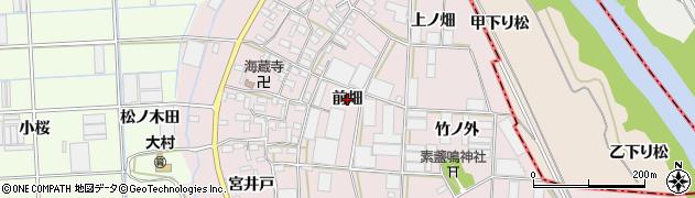 愛知県豊橋市長瀬町(前畑)周辺の地図