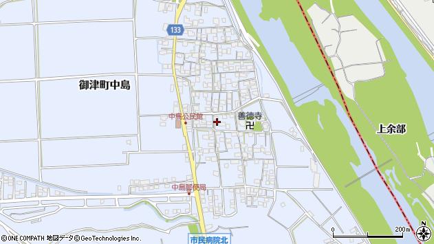 〒671-1311 兵庫県たつの市御津町中島の地図
