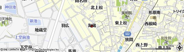 愛知県蒲郡市形原町(海蔵)周辺の地図
