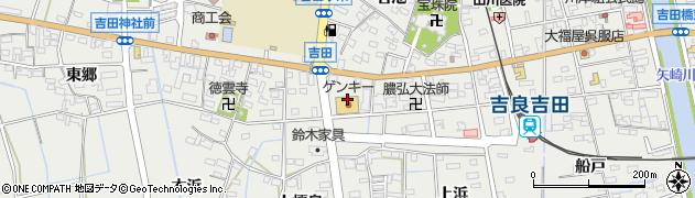 愛知県西尾市吉良町吉田(八ツ田)周辺の地図