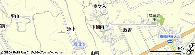 愛知県西尾市東幡豆町(下側内)周辺の地図