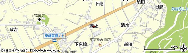 愛知県西尾市東幡豆町(番上)周辺の地図