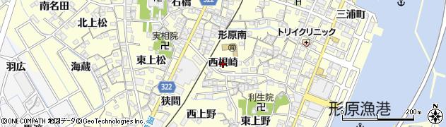 愛知県蒲郡市形原町(西根崎)周辺の地図
