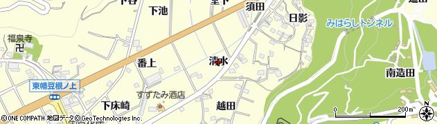 愛知県西尾市東幡豆町(清水)周辺の地図