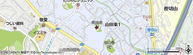 南林寺周辺の地図