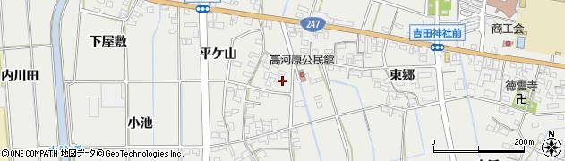 愛知県西尾市吉良町吉田(西郷)周辺の地図