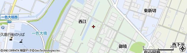 愛知県西尾市一色町坂田新田周辺の地図