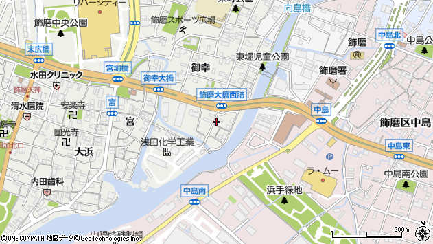 〒672-8054 兵庫県姫路市飾磨区東堀の地図