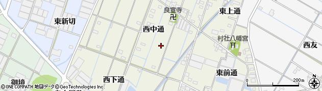 愛知県西尾市一色町酒手島周辺の地図