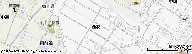 愛知県西尾市一色町松木島(西友)周辺の地図