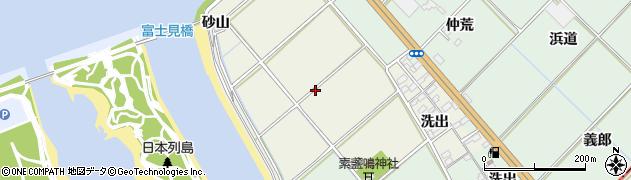 愛知県豊川市御津町新田周辺の地図