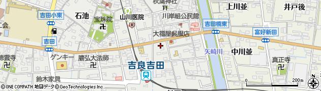 愛知県西尾市吉良町吉田(亥改)周辺の地図