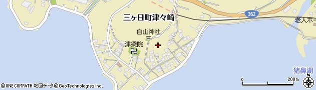 静岡県浜松市北区三ヶ日町津々崎周辺の地図