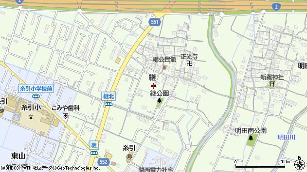 〒672-8004 兵庫県姫路市継の地図