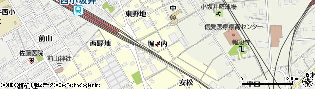 愛知県豊川市平井町(堀ノ内)周辺の地図