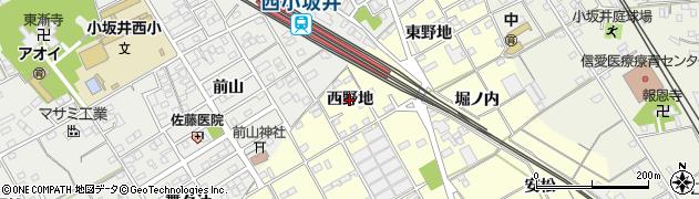 愛知県豊川市平井町(西野地)周辺の地図