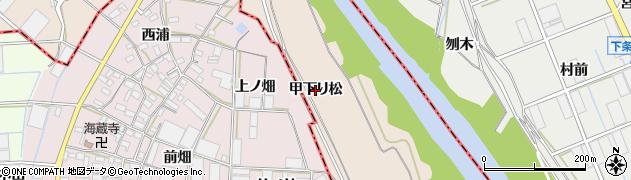 愛知県豊川市行明町(甲下り松)周辺の地図