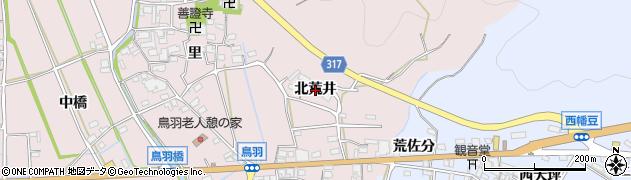 愛知県西尾市鳥羽町(北荒井)周辺の地図