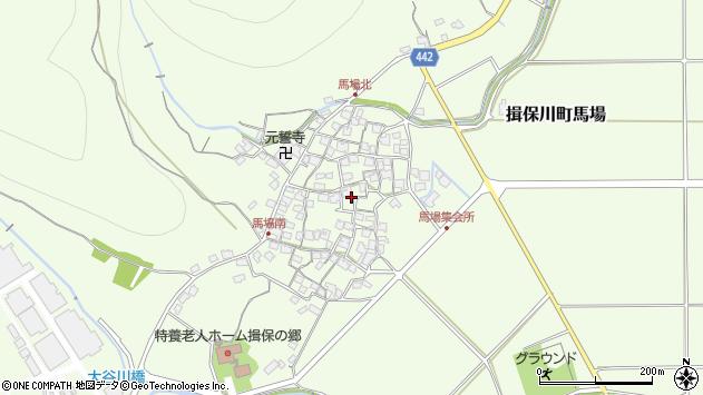〒671-1665 兵庫県たつの市揖保川町馬場の地図