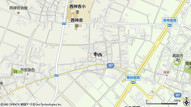 〒675-0043 兵庫県加古川市西神吉町中西の地図
