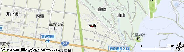 愛知県西尾市吉良町富好新田(三角)周辺の地図