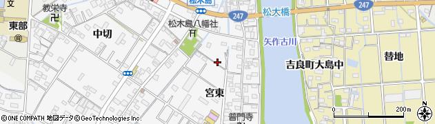 愛知県西尾市一色町松木島周辺の地図