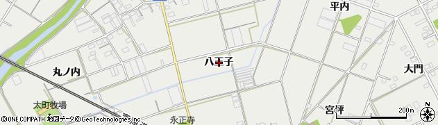 愛知県豊川市伊奈町(八王子)周辺の地図
