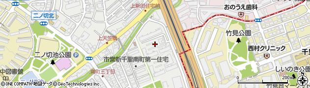 ジオ千里桃山台周辺の地図