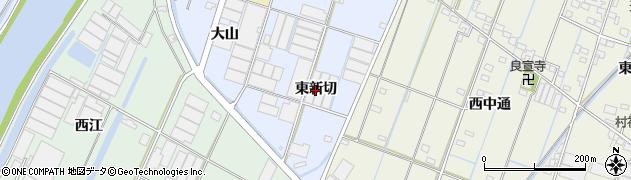 愛知県西尾市一色町藤江(東新切)周辺の地図