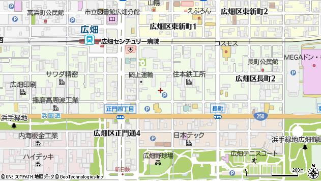 〒671-1125 兵庫県姫路市広畑区長町の地図