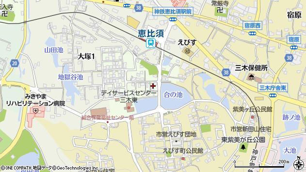 〒673-0425 兵庫県三木市君が峰町の地図