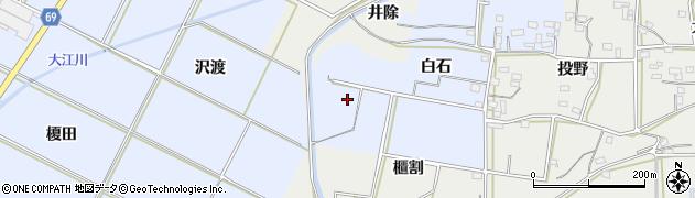 愛知県豊橋市下条東町(白石)周辺の地図