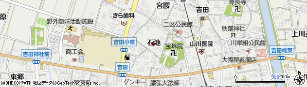 愛知県西尾市吉良町吉田(石池)周辺の地図