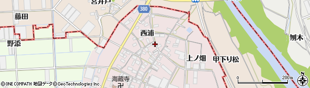 愛知県豊橋市長瀬町周辺の地図