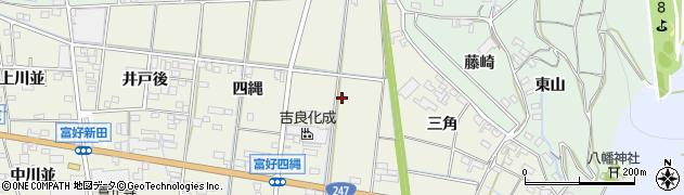 愛知県西尾市吉良町富好新田(役地)周辺の地図