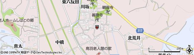 愛知県西尾市鳥羽町(里)周辺の地図