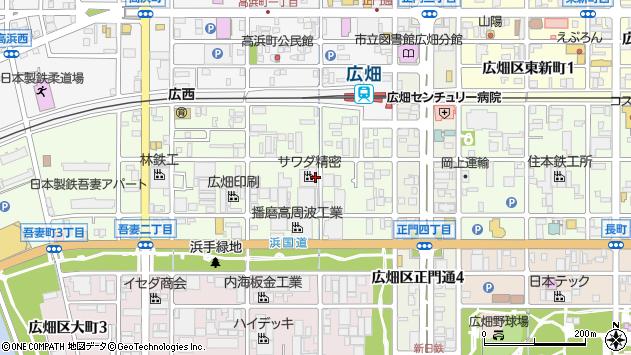 〒671-1154 兵庫県姫路市広畑区吾妻町の地図