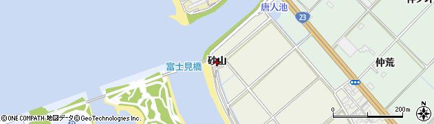 愛知県豊川市御津町新田(砂山)周辺の地図