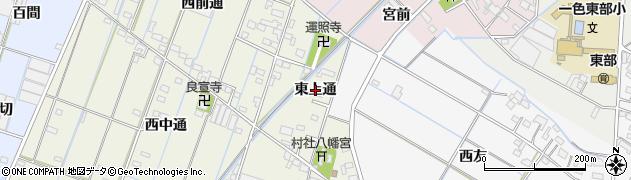 愛知県西尾市一色町酒手島(東上通)周辺の地図