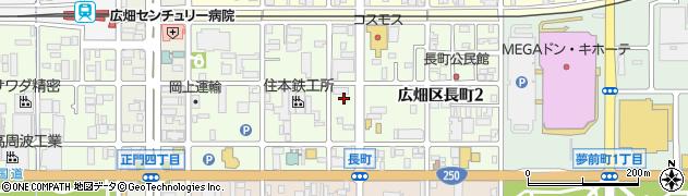 兵庫県姫路市広畑区長町周辺の地図