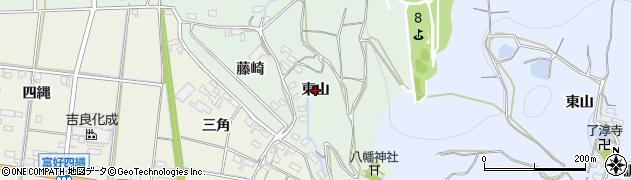 愛知県西尾市吉良町小山田(東山)周辺の地図