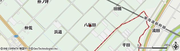 愛知県豊川市御津町下佐脇(八反田)周辺の地図
